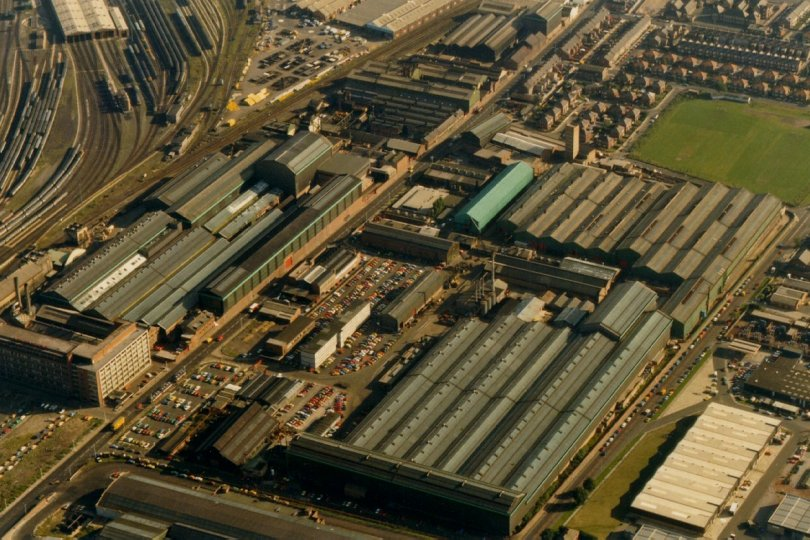 Aerial photo of the factory